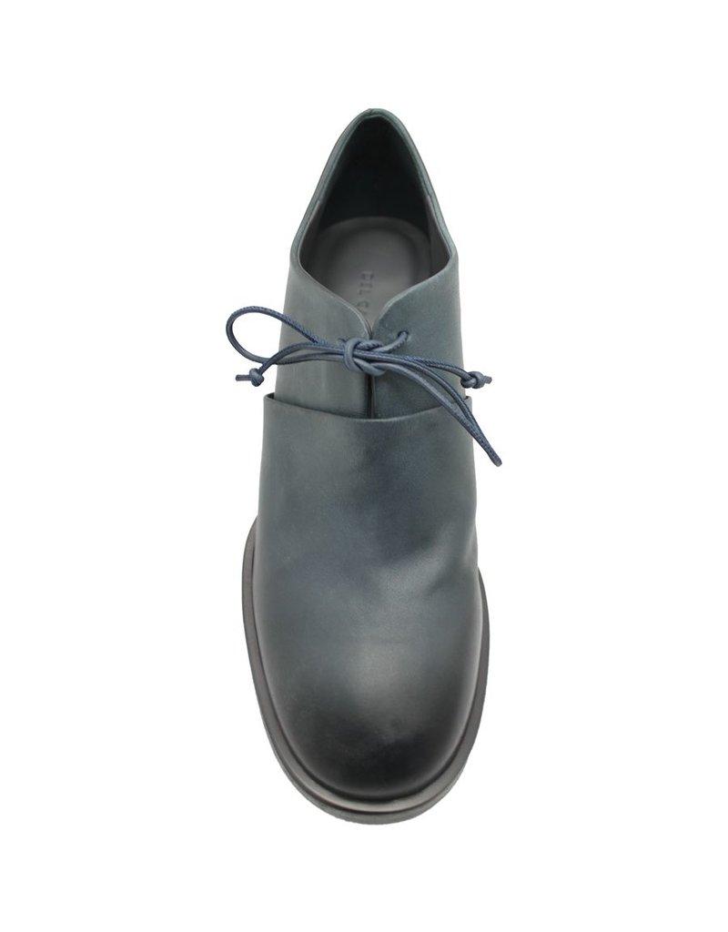 Del Carlo DelCarlo Blue Block Heel Lace-Up 4090