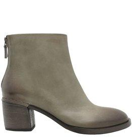 Del Carlo DelCarlo Grey Back Zipper Ankle Boot Low Heel 4110