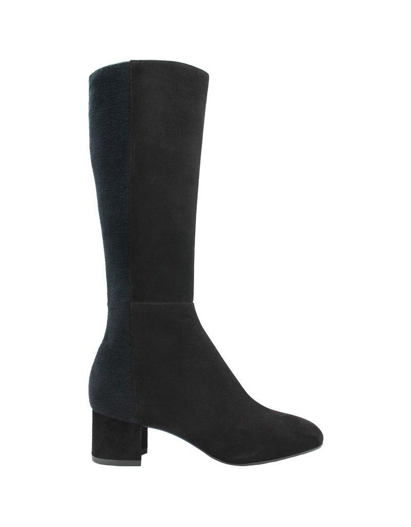 Aquatalia Aquatalia Black Suede Knee Boots With Stretch Back Jules