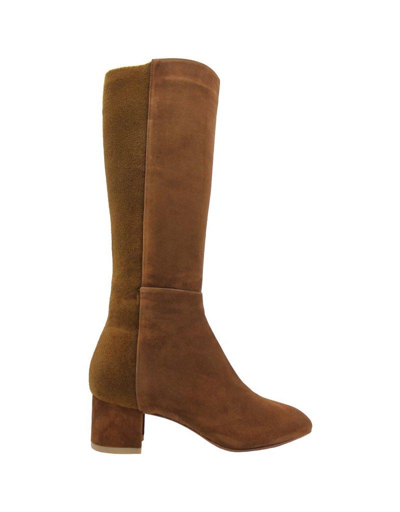 Aquatalia Aquatalia Camel Suede Knee Boots With Stretch Back Jules