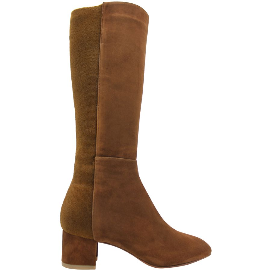 Aquatalia Aquatalia Camel Suede Knee Boots With Stretch Back Jules