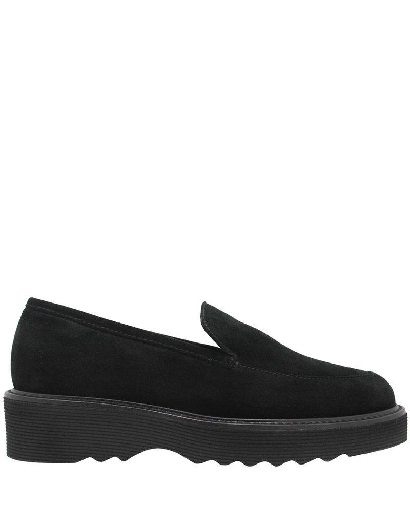 Aquatalia Aquatalia Black Suede Waterproof Loafer Kelsey