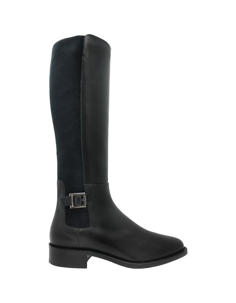 Aquatalia Aquatalia Black Calf Riding Boot Noella