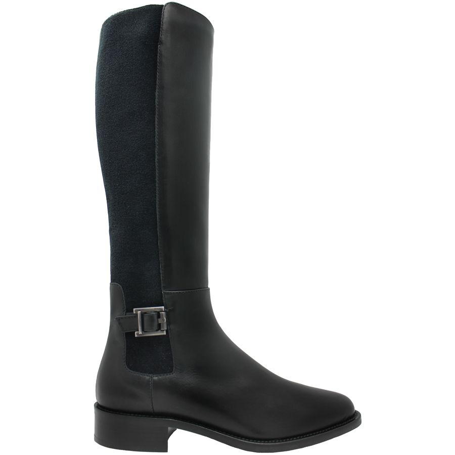 Aquatalia Aquatalia Black Calf Riding Boot Noella