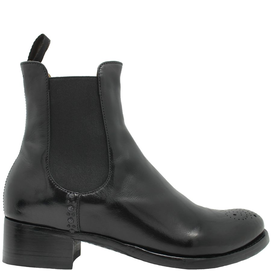 Officine Creative OfficineCreative Black Perforated Chelsea Boot Favre