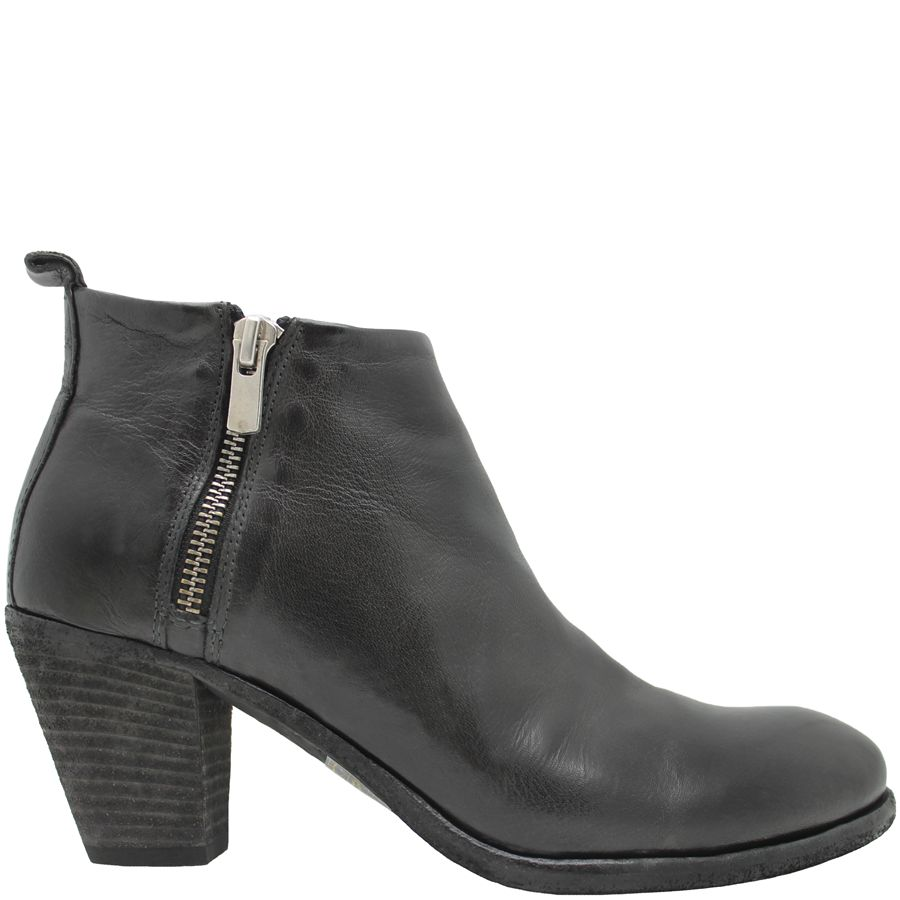 Officine Creative OfficineCreative Charcoal 2-Zipper Ankle Boot Luck