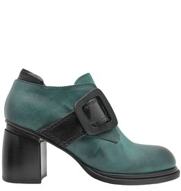 Ixos Ixos Green With Black Buckle Shoe 1024