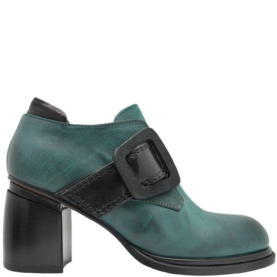 Ixos Ixos Green With Black Buckle Shoe 1024