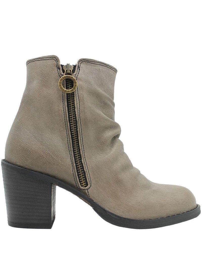 Fiorentini+Baker Fiorentini+Baker Taupe 2-Zipper Medium Heel Ankle Boot Lan