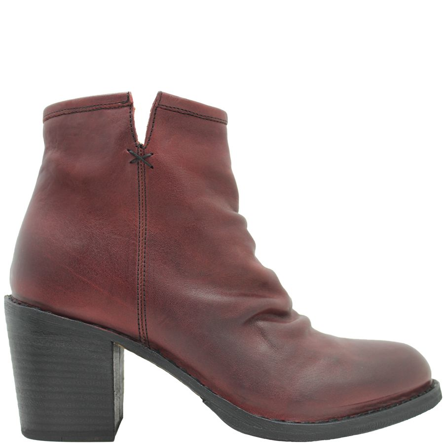 Fiorentini+Baker Fiorentini+Baker Wine Ruched Ankle Boot Lucci