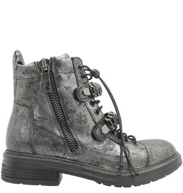 Now Now Gunmetal Double Zipper With Chain Velcro Closure 3974