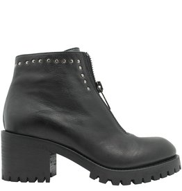 Now Now Black Front Zipper Ankle Boot 4327