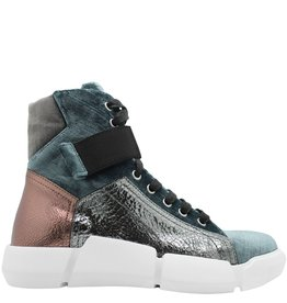 Elena Iachi ElenaIachi Blue Velvet Trainer With Metallic Details 1335