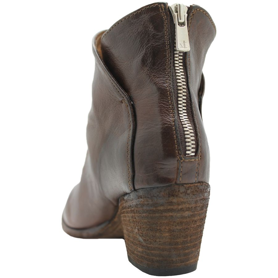 Officine Creative OfficineCreative  Tobacco Ankle Boot With Back Zipper Brees