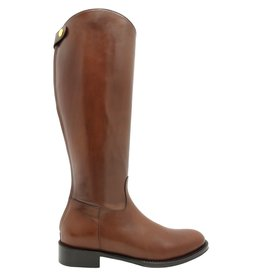 Siton Tobacco Riding Boot With Back Zipper 2580