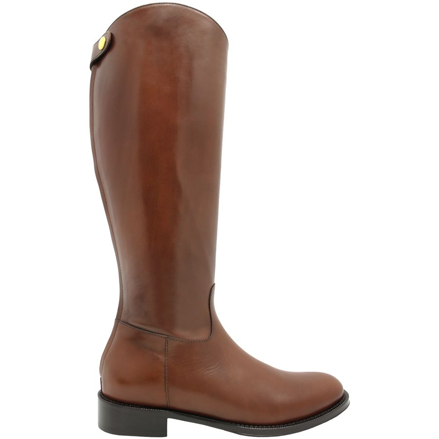 Siton Siton Tobacco Riding Boot With Back Zipper 2580