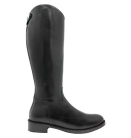 Siton Black Riding Boot With Back Zipper 2580