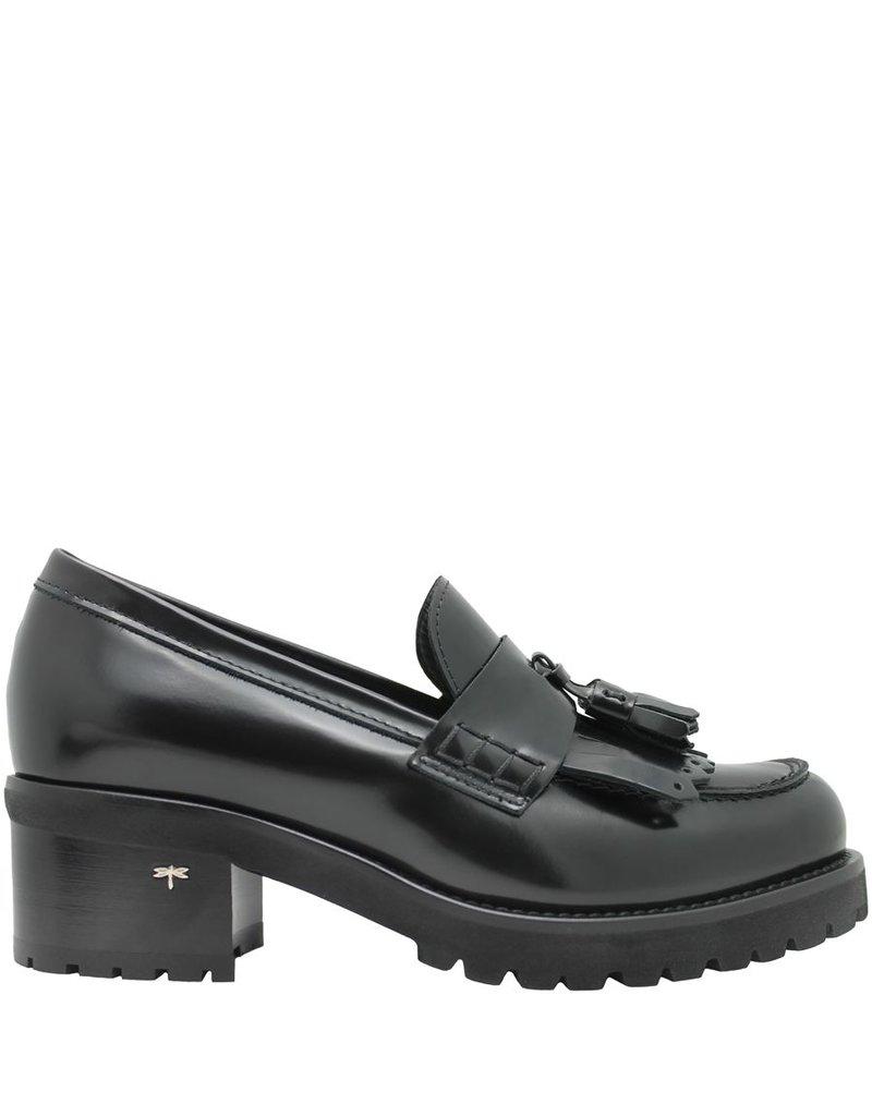Siton Siton Black Shiny Calf Kiltie Loafer Tread Sole 5010