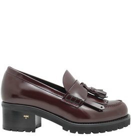 Siton Siton Bordo Shiny Calf Kiltie Loafer Tread Sole 5010