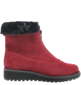 PalmrothOriginal PalmrothOriginal Red Suede Waterproof Front Zipper Teddy Lining 8306