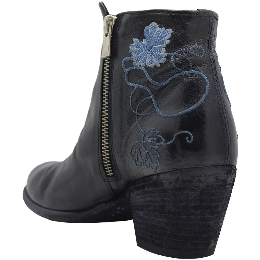 Officine Creative OfficineCreative Blue Emroidered Ankle Boot Brady