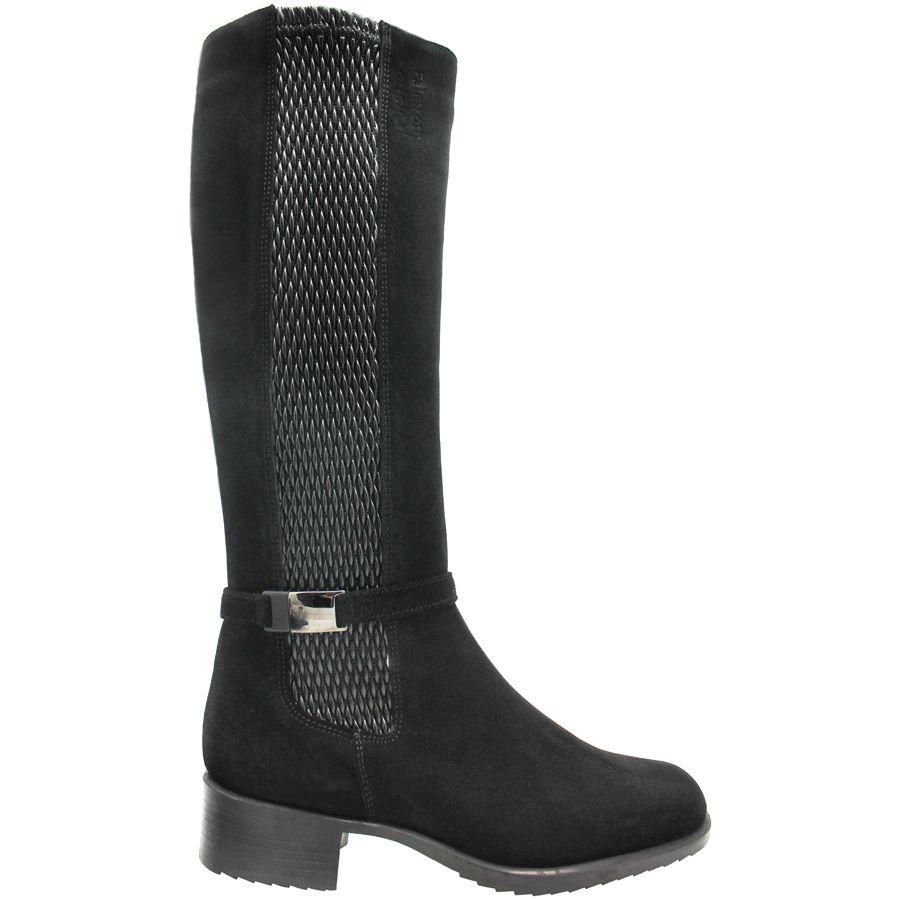 PalmrothOriginal PalmrothOriginal Black Suede Waterproof Knee Boot 8413