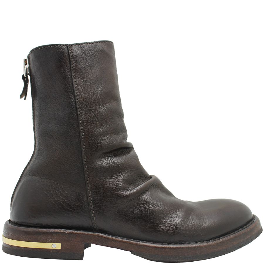 Moma Moma Brown Back Zipper Boot 2606