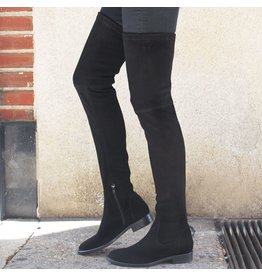 ViaRoma ViaRoma Black Suede Thigh High Boots 2318