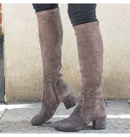 ViaRoma ViaRoma Iron Suede Low Heel Knee Boot 2347