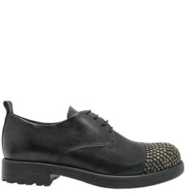 Now Now Black Oxford With Nail Detail Toe Cap 4100