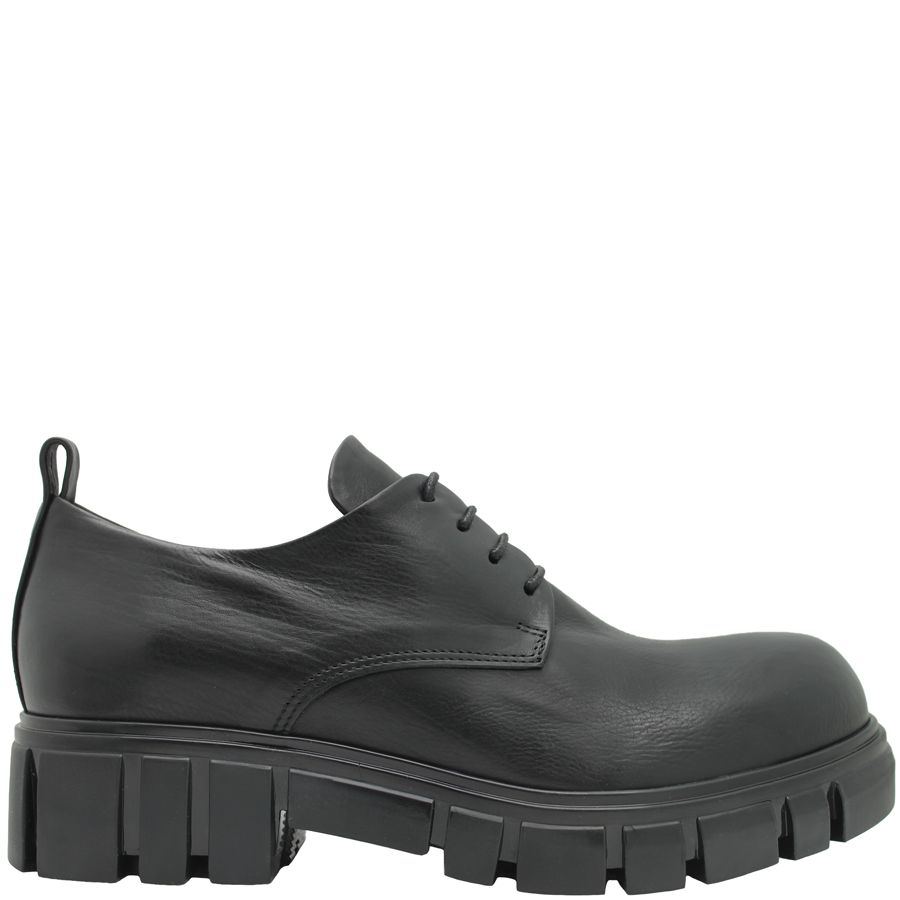 Now Now Calf Black Oxford With Tread Sole 4208