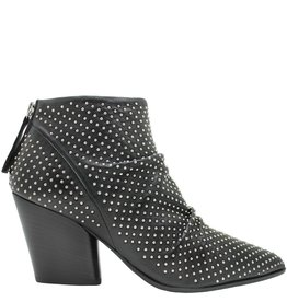 Halmanera Halmanera Black Studded Ankle Boot Back Zip Staley