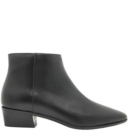 Aquatalia Aquatalia Black Leather Waterproof Ankle Boot Fire