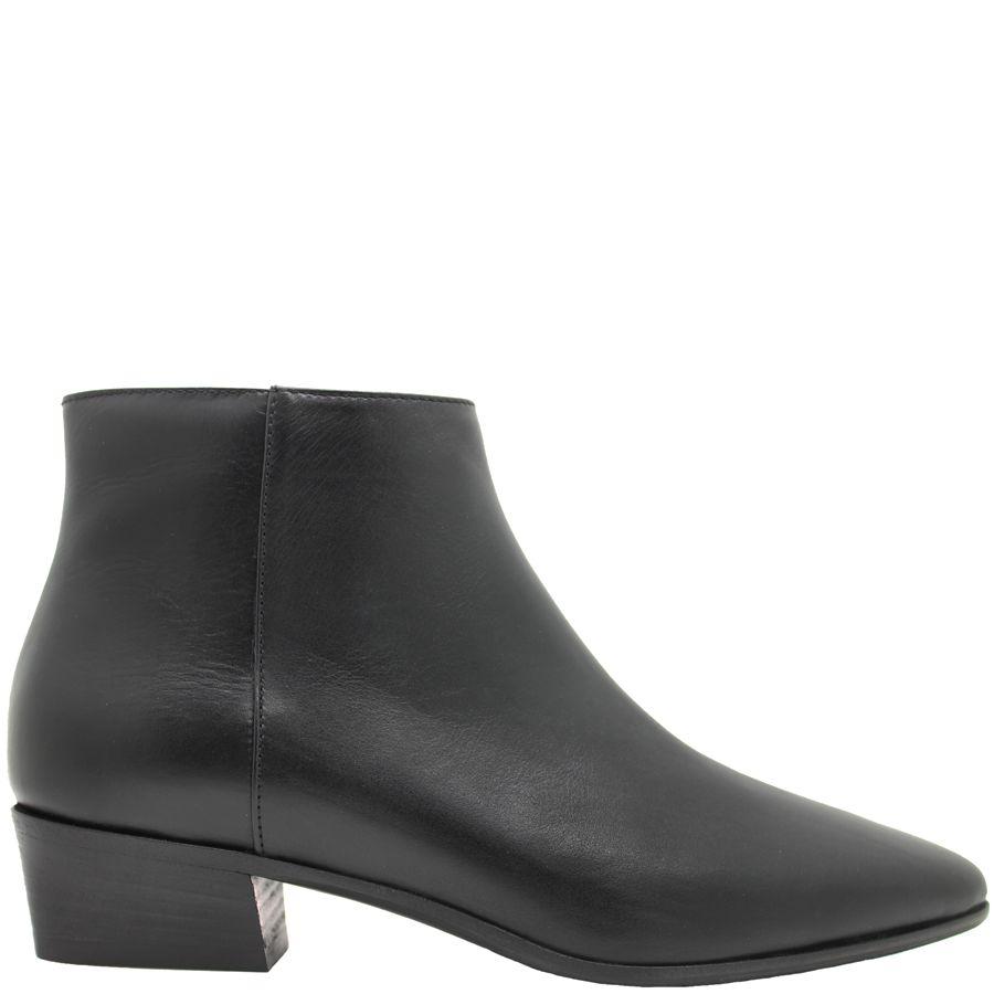 Aquatalia Aquatalia Black Leather Waterproof Ankle Boot Fire