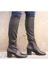 ViaRoma ViaRoma Black Stretch Knee Boot 2348