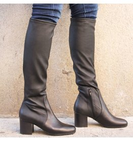 ViaRoma ViaRoma Black Stretch Knee Boot 2348