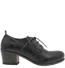 Moma Moma Black Star Detail Oxford Low Heel 2563