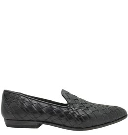 Moma Moma Black Woven Slip-On Flat Loafer 2564