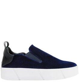 Elena Iachi ElenaIachi Blue Velvet Tennis Shoe 1066