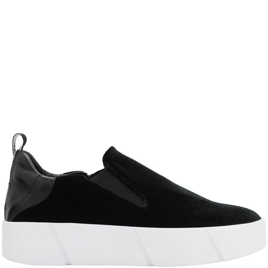 Elena Iachi ElenaIachi Black Velvet Tennis Shoe 1066