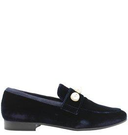 ViaRoma ViaRoma Blue Velvet Loafer 2521