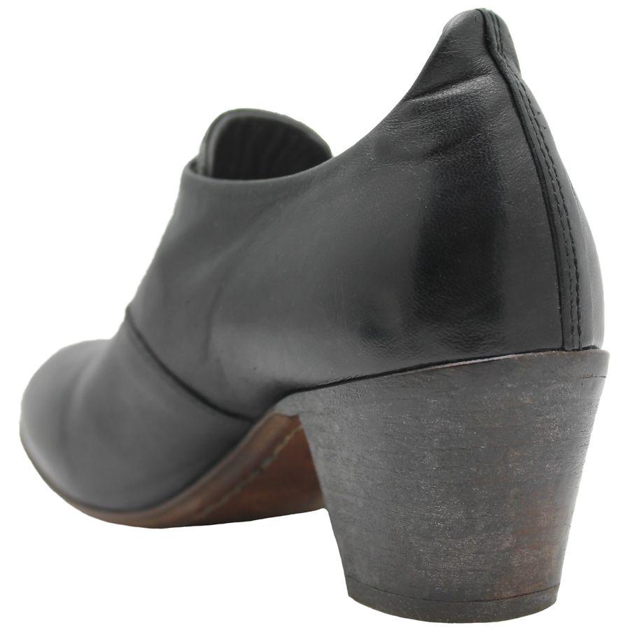 Moma Moma Black Top Zipper Shoe Low Heel 2561