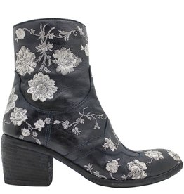 Fauzian Jeunesse FauzianJeunesse Navy /Silver Embroider Ankle Boot 1197
