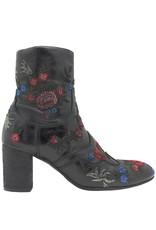 Fauzian Jeunesse FauzianJeunesse Black Eucalyptus Embroidered Boot 1454