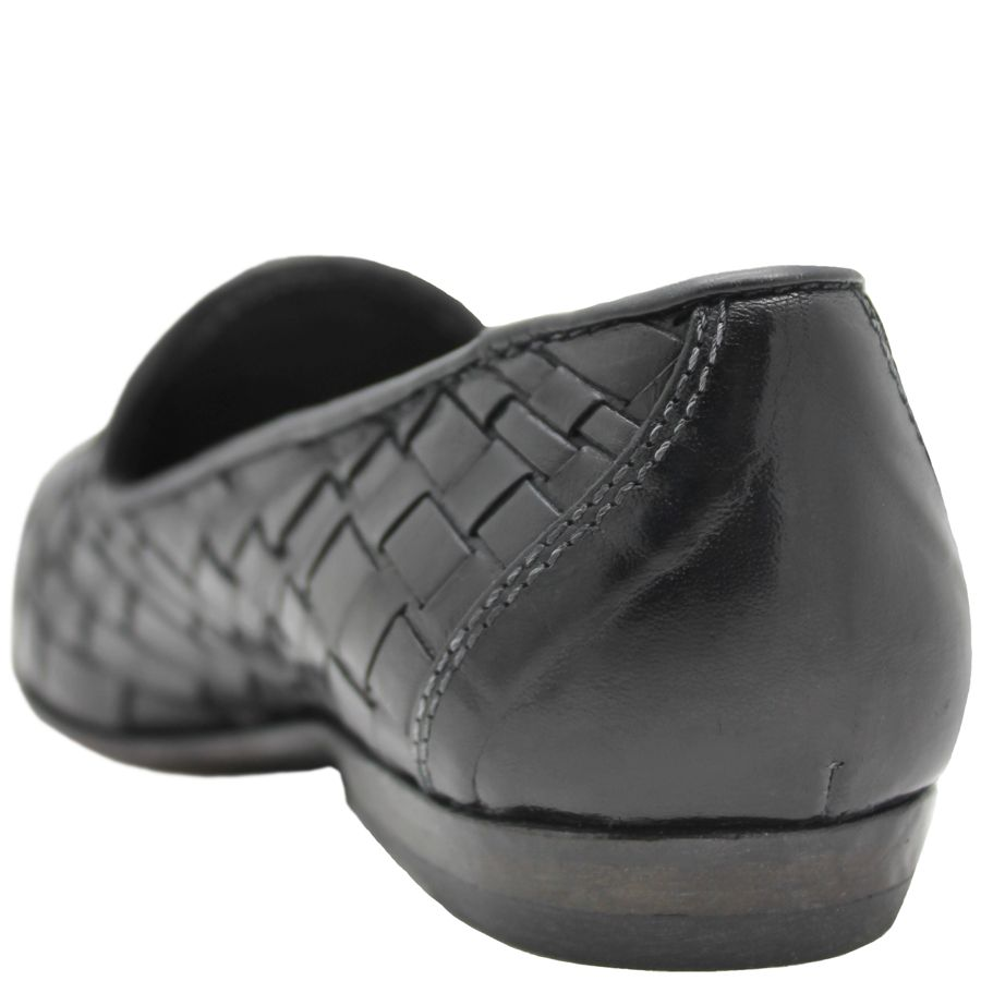 Moma Moma Black Woven Slip-On Flat Loafer 2564