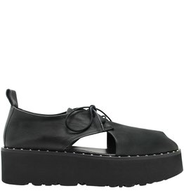 Now Now Black Lace-Up Flatform 4540