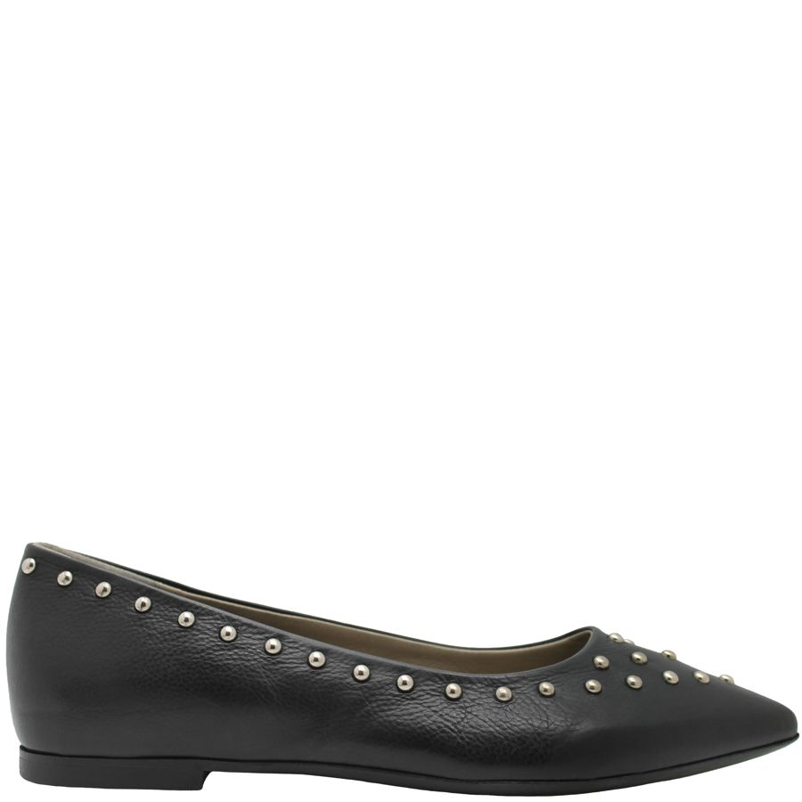 Now Now Black Point Toe Ballerina With Studs 4744