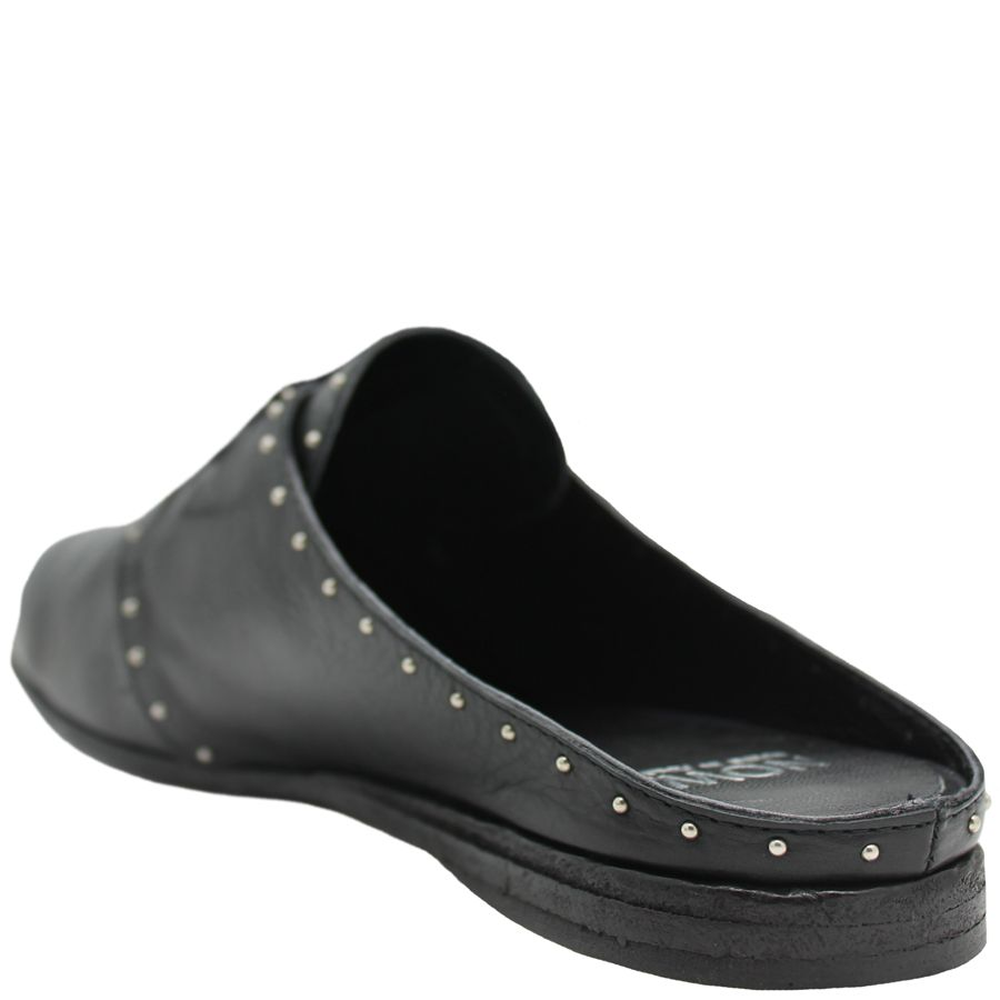 Now Now Black Lace-Up Mule With Studs 4564