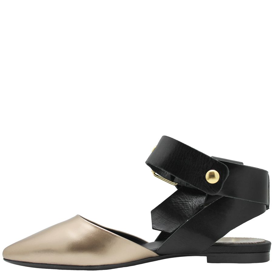 Now Now Metal With Black Buckled Ankle Strap 4611