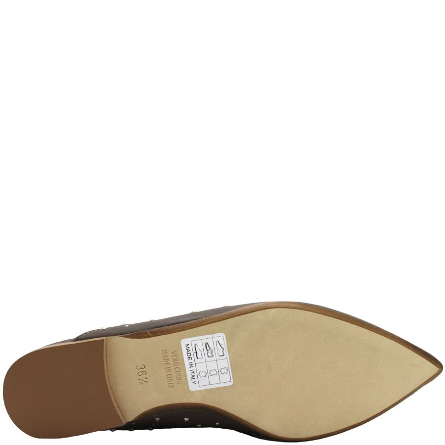 Now Now Taupe Point Toe Mule 4743